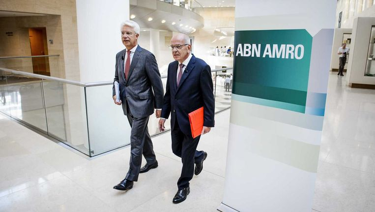 De top van ABN Amro, een van de banken die met staatssteun overeind werd gehouden. Beeld anp