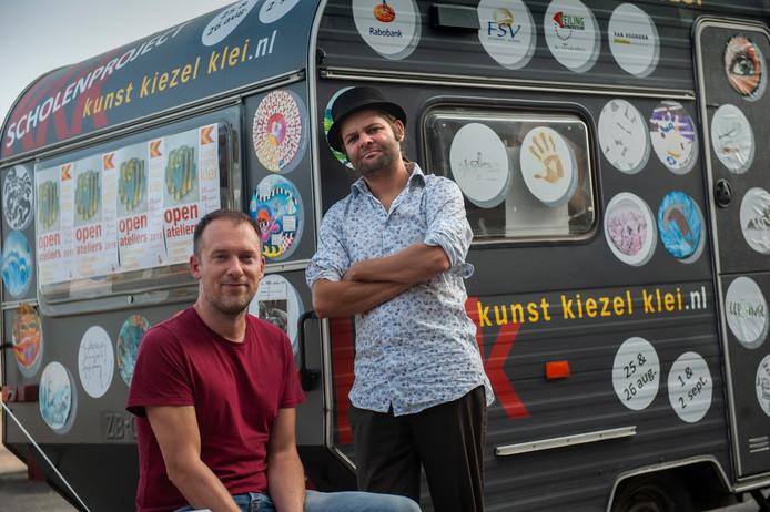 Tijdens Kunst Kiezel Klei zullen Gijsbert van der Wal (links) en Jeroen Stijlaart lezingen geven.