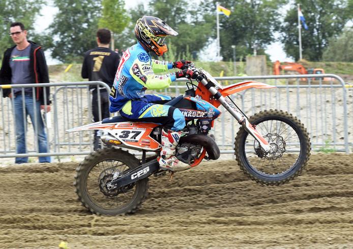 Axel; (Sport) 18/08/2018. Open ZK. 250 cc, Mark Boot (nr.37). (tekst Herman Heuvink)