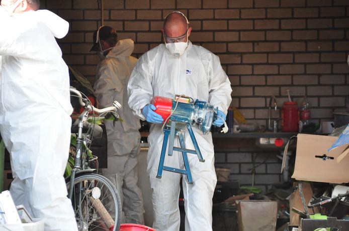 Het XTC-lab in Waalwijk werd direct ontruimd.