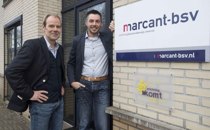 Ralf Dwars (rechts) van MarCant-BSV en Frank Konings van Stichting KOMT
