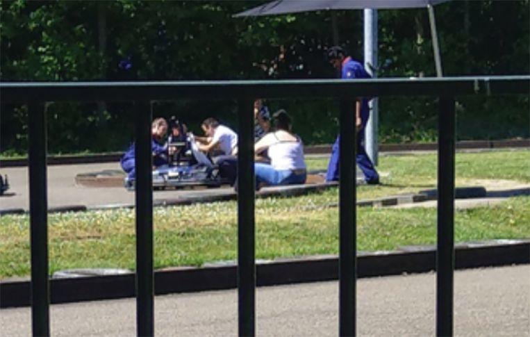 Na het ongeluk werd het meisje enige tijd in de kart behandeld.