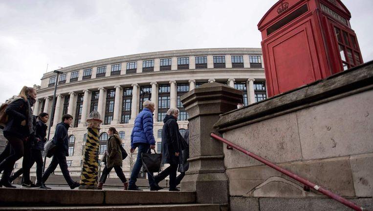 Het kantoor van Unilever staat nu nog in Londen, maar verhuist in verband met brexit naar Rotterdam. Beeld afp
