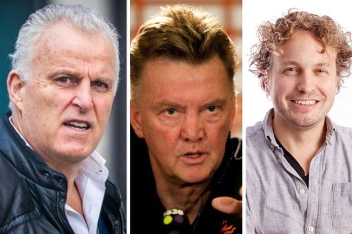 Misdaadreporter Peter R. de Vries, voetbaltrainer Louis P.M. van Gaal, en columnist Niels A.L. Herijgens.