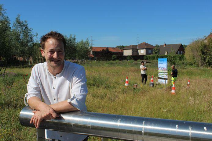 Schepen Bob D'Haeseleer, afgelopen zomer in het Wilgenpark in Eeklo.