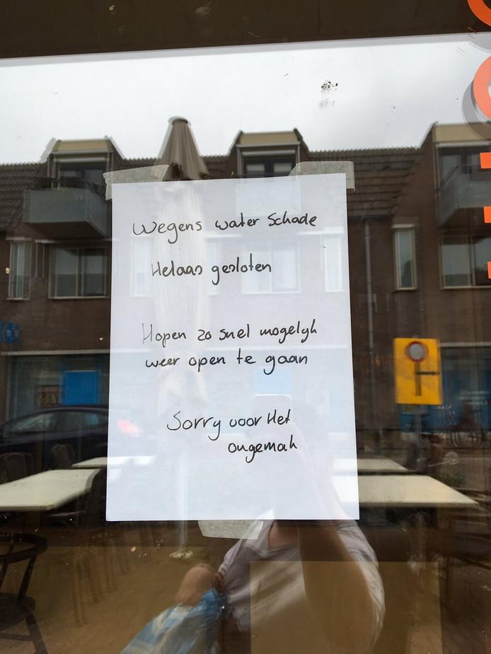 Restaurant dicht in Someren.