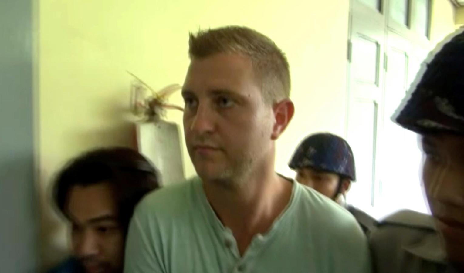 Klaas Haytema vlak voor de uitspraak van de rechter