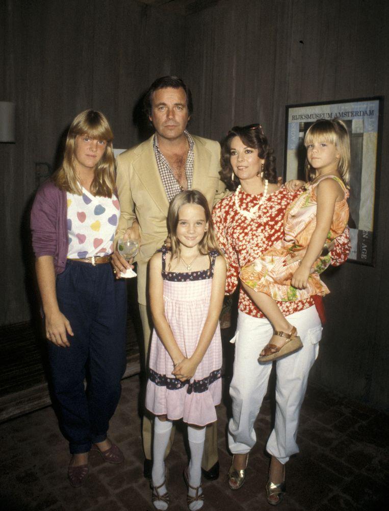 Robert Wagner, Natalie Wood en hun dochters Katie Wagner, Natasha Gregson Wagner en Courtney Wagner