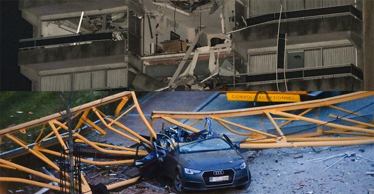 Drie verdiepingen van de residentie zijn onbewoonbaar verklaard. Ook meerdere auto's werden vernield.