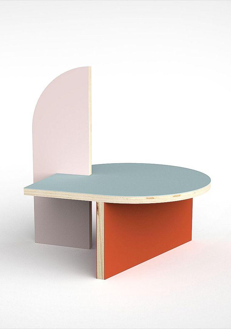 Bijzettafel 'Berlin' van Cartoni Design, ontworpen door Colette Vermeulen.  Beeld Cartoni Design