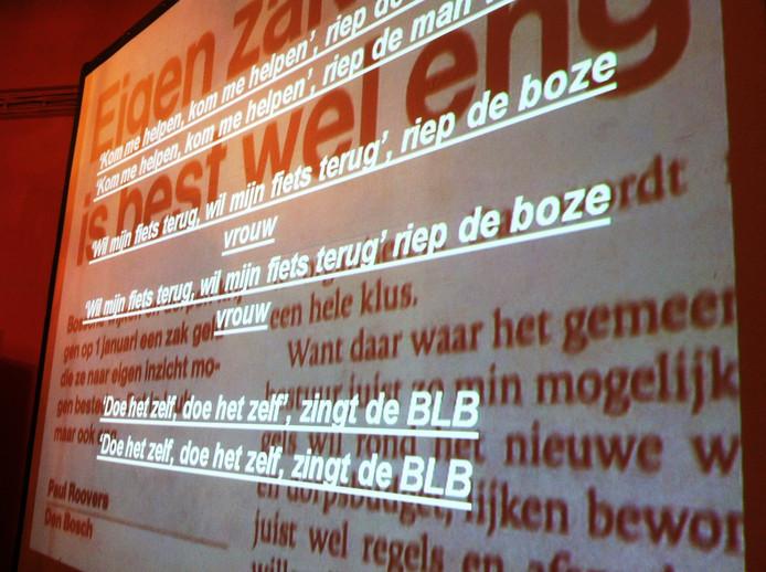 Op de wijze van Catootje van Wim Sonneveldt bezongen betrokken wijkbewoners het nieuwe wijkbudget.
