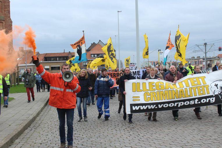 Zo'n 130 manifestanten kwamen vorig jaar naar Zeebrugge.