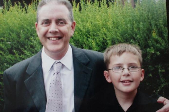 Andrew met zijn vader.