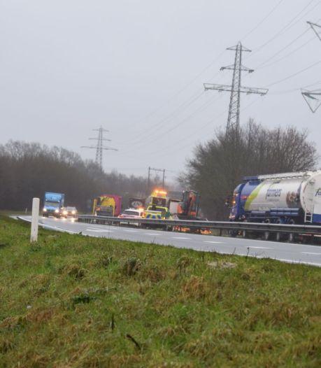Verkeershinder na ongeluk in Wierden
