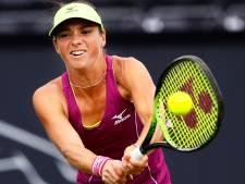 Tennisster Bibiane Schoofs in hoofdtoernooi dubbel
