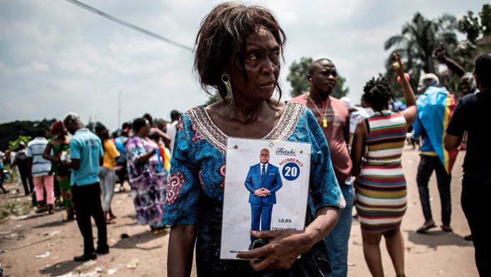 Une femme supportant, Felix Tshisekedi, le vainqueur provisoire des élections présidentielles en RDC.