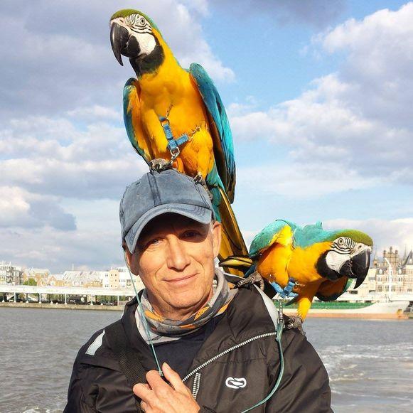 Joseph Verdyck, de eigenaar van de doodgeschoten papegaai Rambo