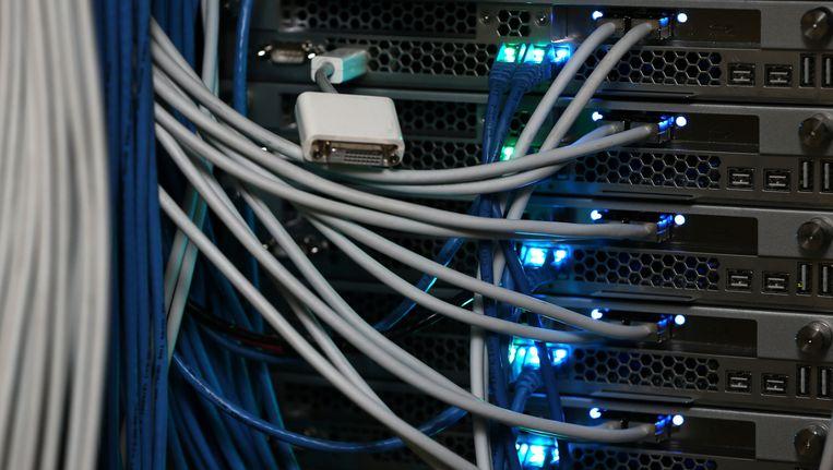 Een serverruimte in New York. De toekomst van het Amerikaanse internet wordt vandaag door de FCC bepaald. Beeld getty