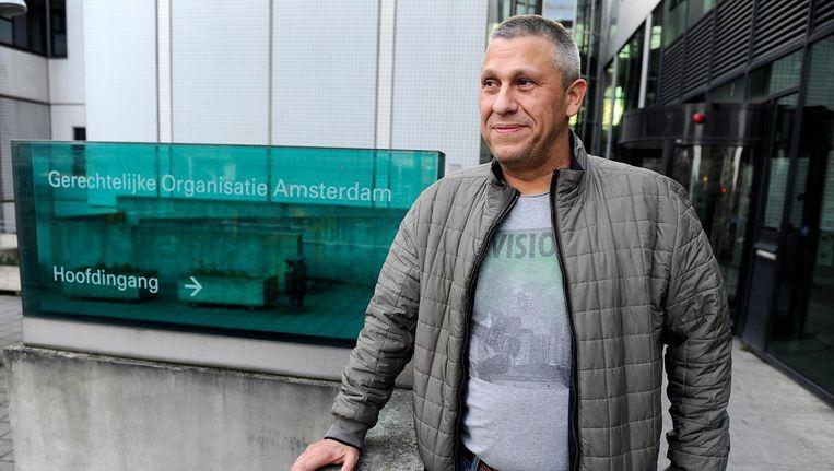 Kok bij de rechtbank aan de Parnassusweg, waarvoor hij moest verschijnen na het publiceren van verklaringen uit verhoren met Willem Holleeder en zijn zussen Astrid en Sonja. Beeld anp