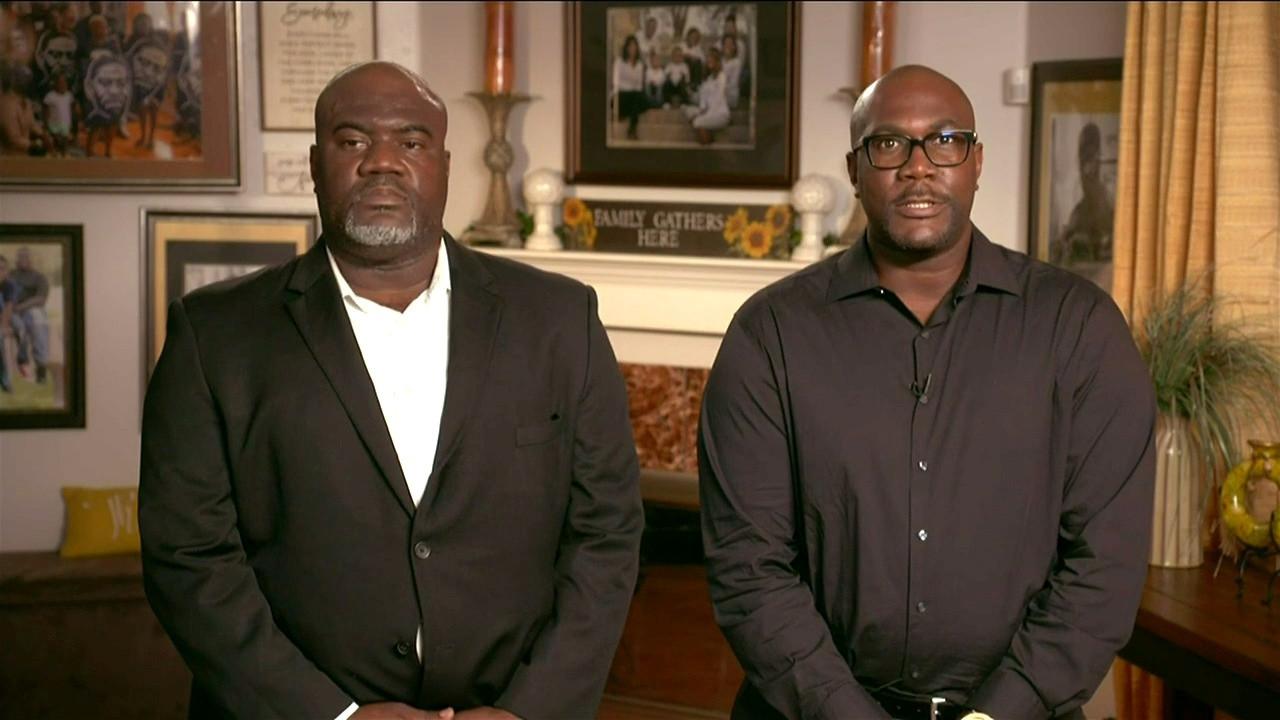 Rodney en Philonise Floyd, de broers van George Floyd.
