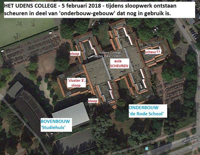 Heeft de sloop gezorgd voor de scheur in de vloer? 700 leerlingen moesten de school verlaten door de vondst.