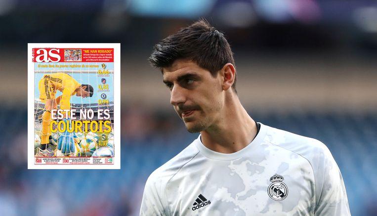 Spaanse krant AS nam Courtois in vijf bladzijden op de korrel.