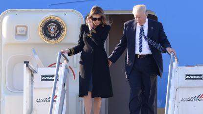 Melania Trump ontwijkt ook in Rome de hand van Donald