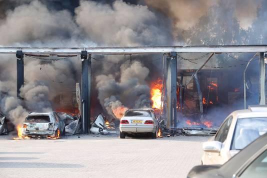 Veel Mercedes-oldtimers zijn afgebrand.