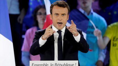 Partij Macron dichtbij parlementaire meerderheid volgens peiling