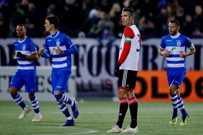 Van Persie baalt in Zwolle.