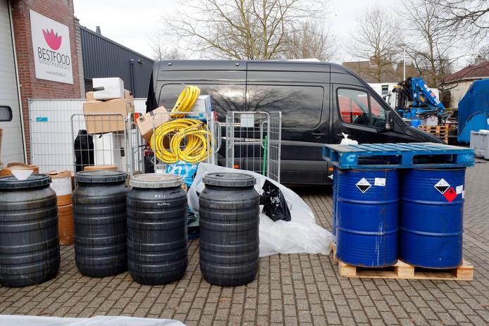 De ontmanteling van het xtc-lab dat in januari vorig jaar werd aangetroffen in de Gaasbeekstraat in Eindhoven.