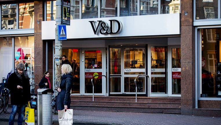 De V&D vestiging aan het Rokin in Amsterdam. Beeld null