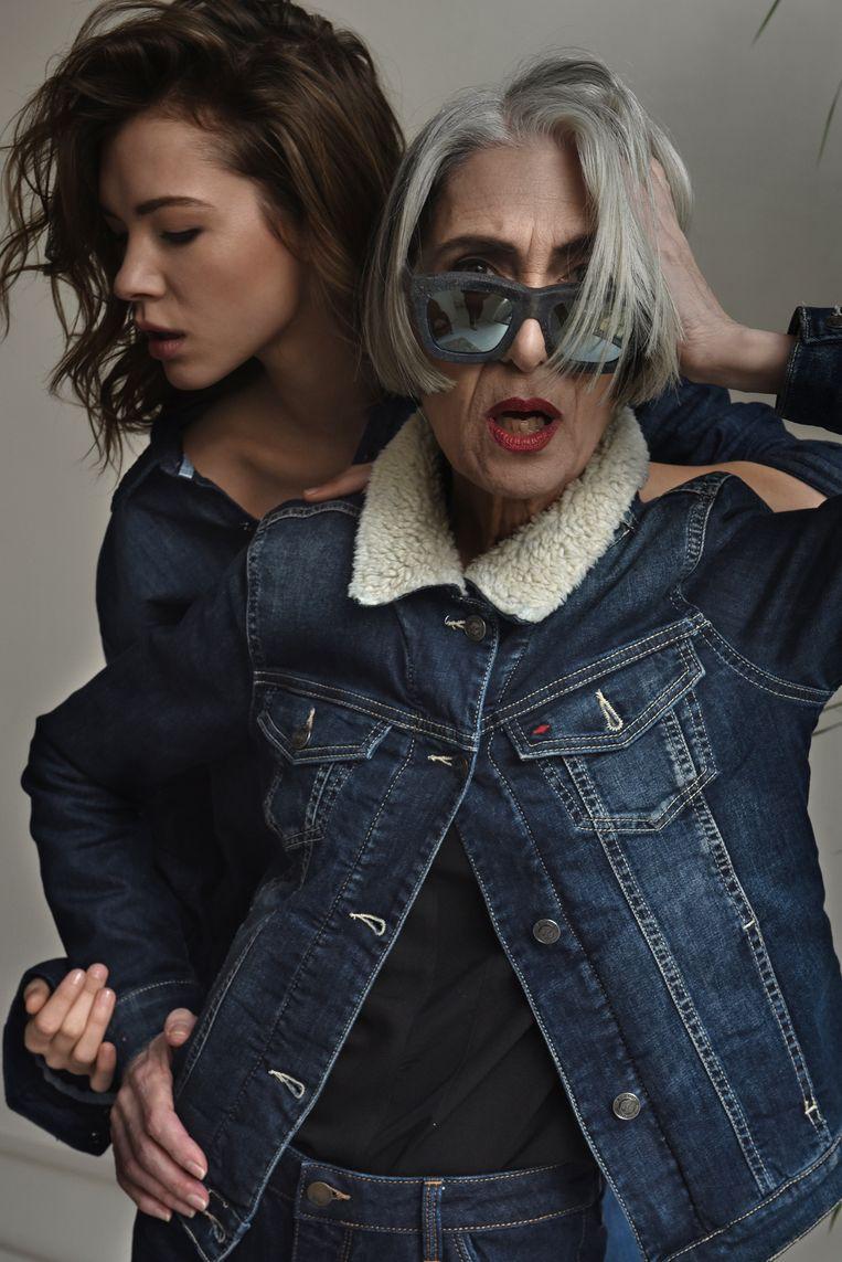 Dolores Melia in een campagnebeeld van Lee Cooper.
