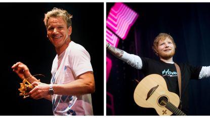 Gordon Ramsay betaalde half miljoen pond voor optreden Ed Sheeran