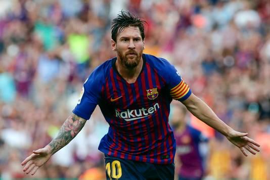Lionel Messi speelt zaterdagmiddag met FC Barcelona de uitwedstrijd bij Real Sociedad.