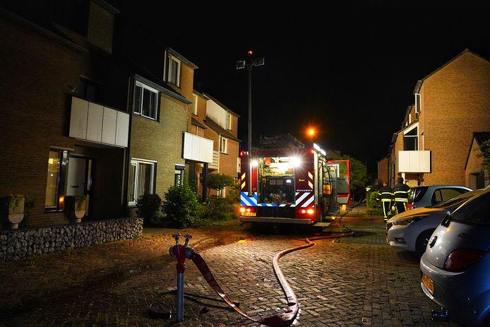 Woningbrand op het Looiersveld in Rijen.