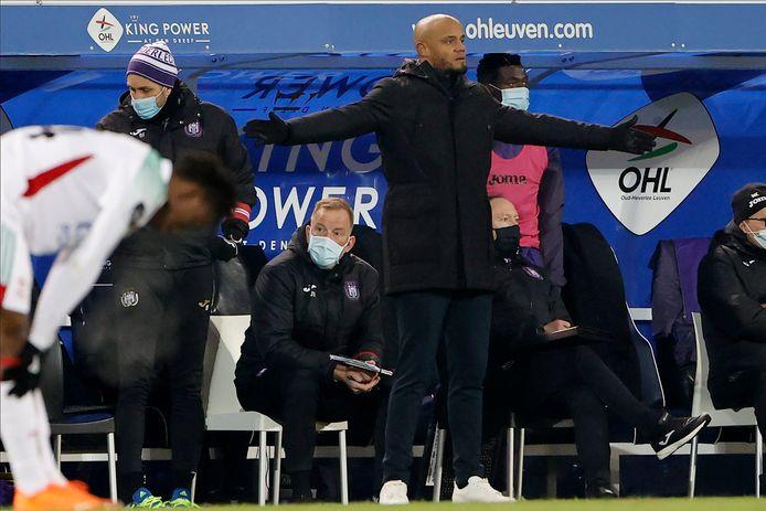Déçu par le résultat et les occasions manquées, Vincent Kompany est surtout satisfait du football proposé par Anderlecht.