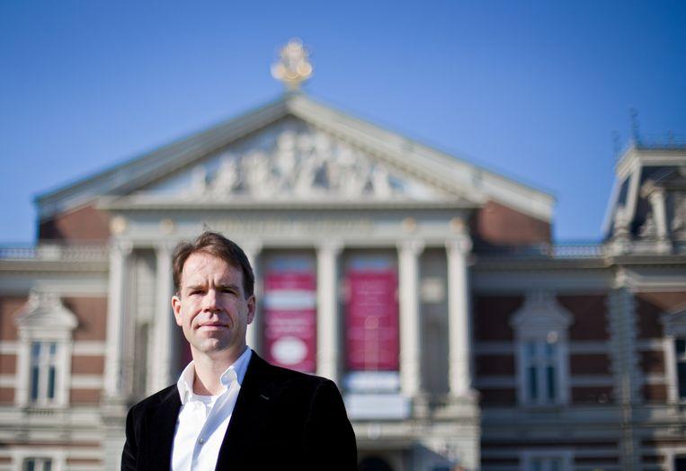 Simon Reinink, algemeen directeur van het Concertgebouw Amsterdam, poseert voor het Concertgebouw.  Beeld ANP
