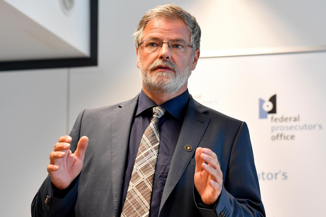 Eric Van der Sypt, woordvoerder van het federaal parket.