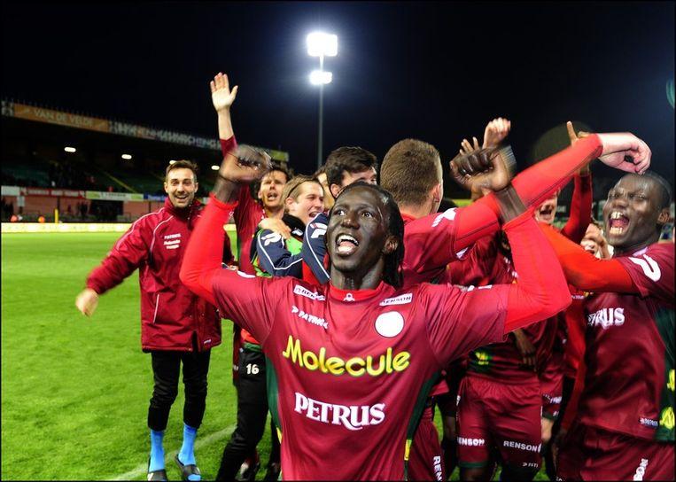 Francky Dury en zijn Zulte Waregem doen twee speeldagen voor het einde nog mee voor de titel