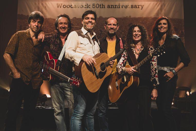 De groep Woodstock Legends.