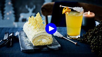 Easy-peasy kerststronk: deze met witte chocolade en rum maak je in een wip zelf