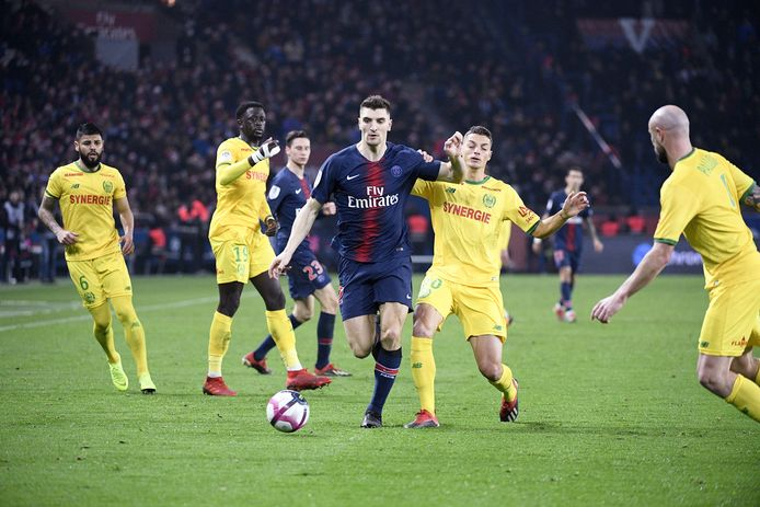 12 THOMAS MEUNIER (PSG) FOOTBALL : Paris SG vs Nantes - Ligue 1 Conforama - 22/12/2018 © PanoramiC / PHOTO NEWS PICTURES NOT INCLUDED IN THE CONTRACTS  ! only BELGIUM !