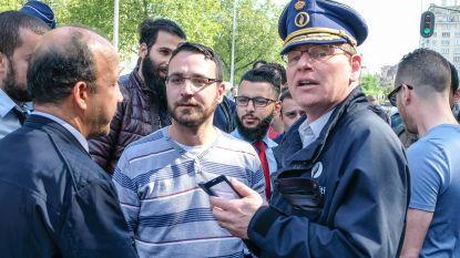 Brussels politiecommissaris Vandersmissen geschorst na incident op betoging