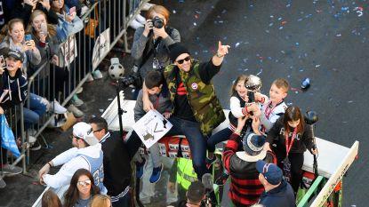 FOTO. Knotsgekke taferelen in Boston, waar Brady & co als helden onthaald werden na nieuwe winst in Super Bowl
