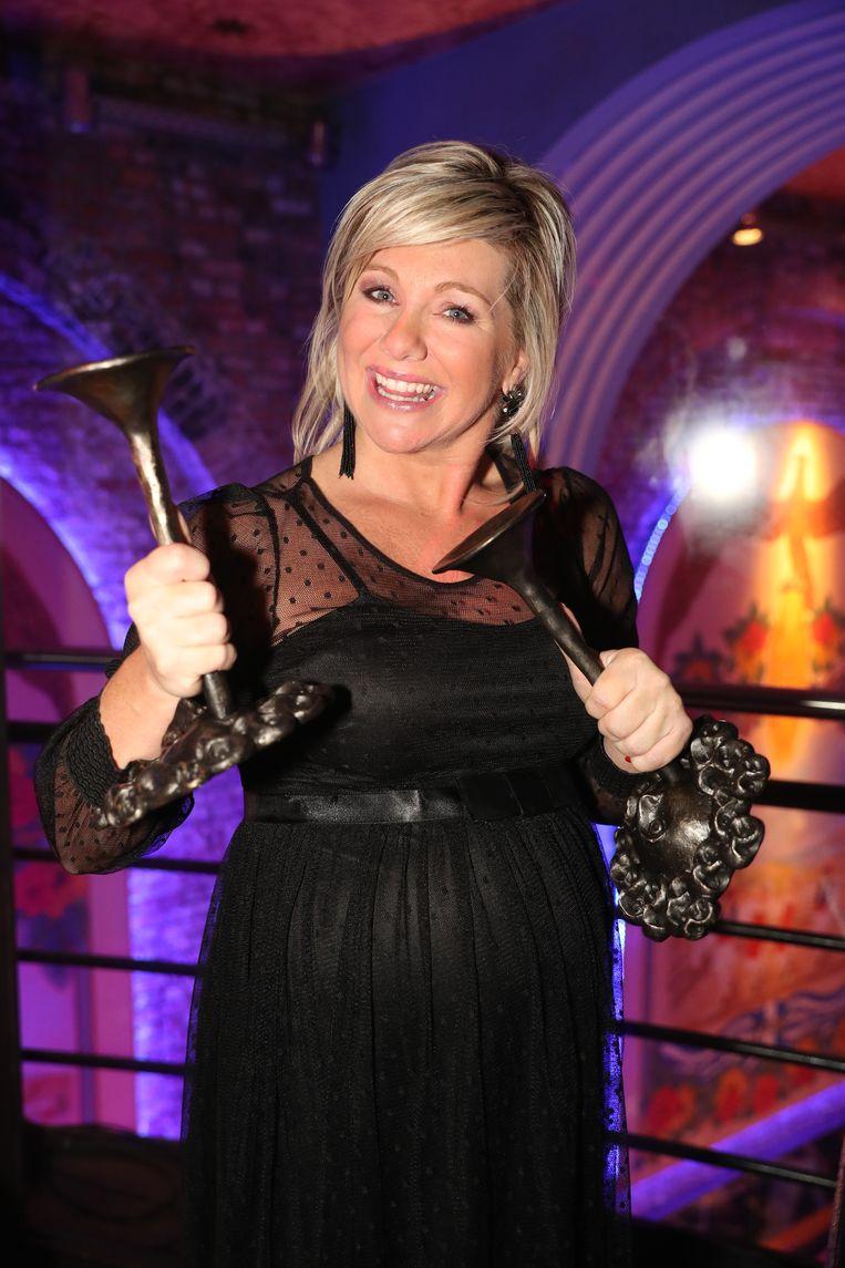 Lindsay mocht met twee prijzen naar huis.