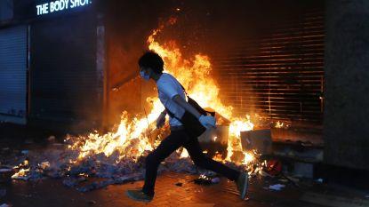Openbaar vervoer Hongkong stilgelegd na brandstichting door demonstranten