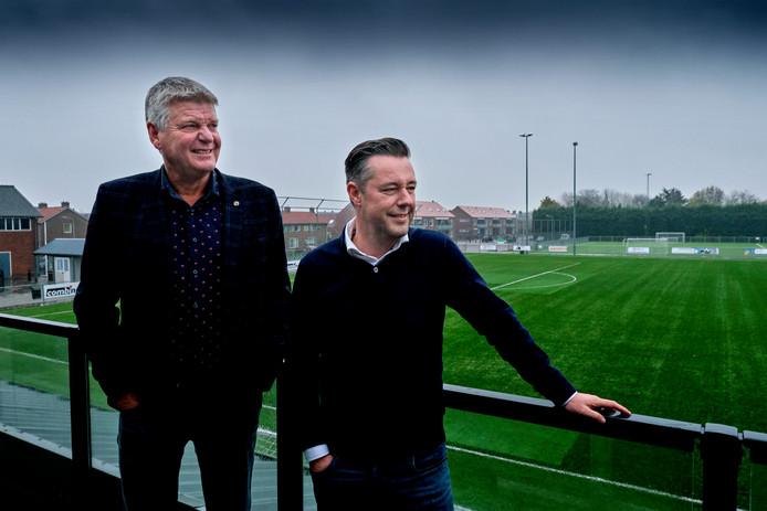 Voorzitter Arie Kruithof en Jeroen Reedijk.