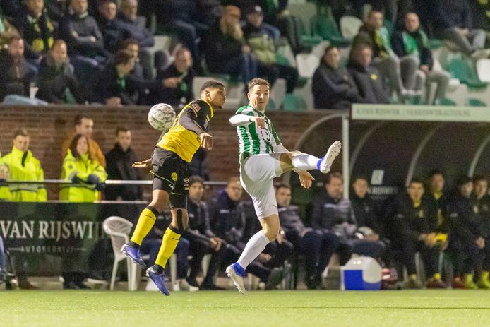 Het bekerduel Achilles Veen - Roda JC zorgde voor een buffer in de clubkas.
