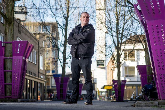 """Tijs Jagers bedenkt initiatieven om de Hengelose binnenstad aantrekkelijker te maken. """"Die houding van aanpakken heb ik overgehouden uit mijn jeugd."""""""
